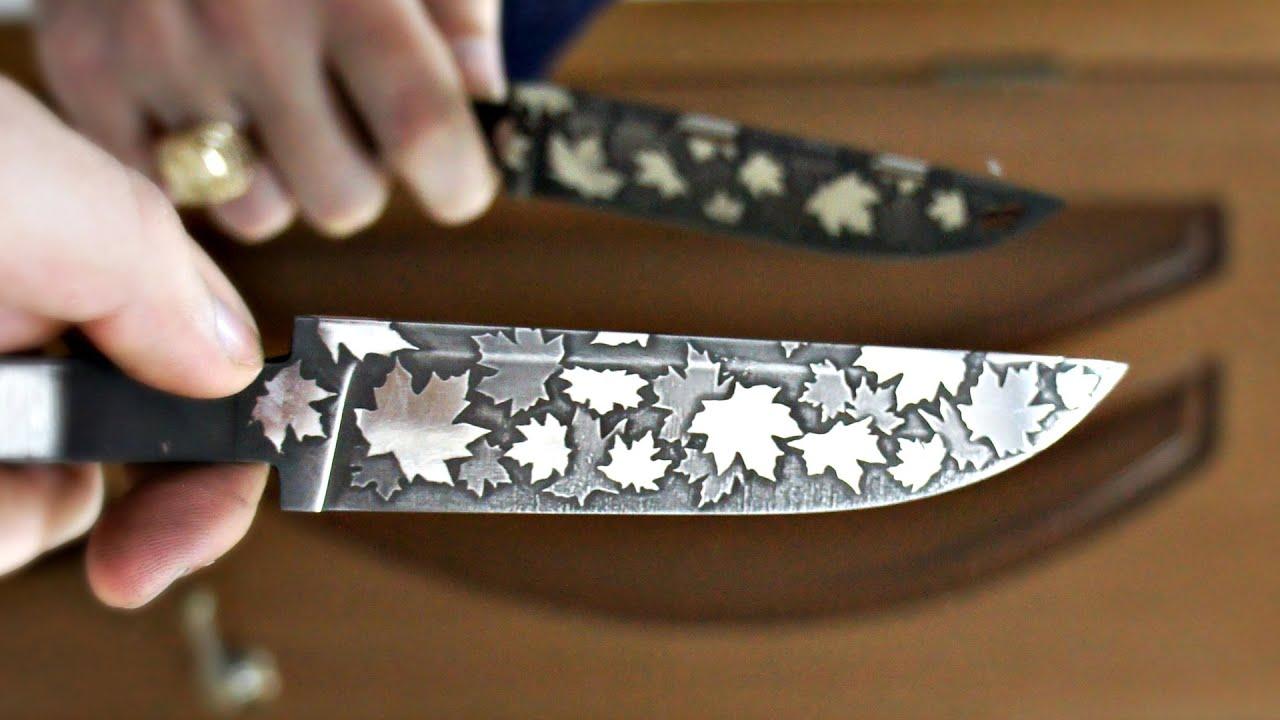 Как сделать рисунок на лезвие ножа в домашних условиях