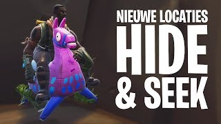 *NIEUWE LOCATIES* HIDE & SEEK #8 MINI-GAME!  - Fortnite: Battle Royale Playground (Nederlands)
