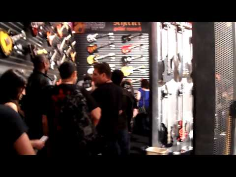 NAMM 2013 Anaheim, 01-26-13, Meeting Nikki Sixx, Kerry King (Slayer