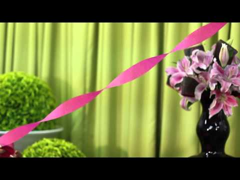 How to Hang Crepe Paper for Birthday Party Decorations : Event Etiquette & Inspirations