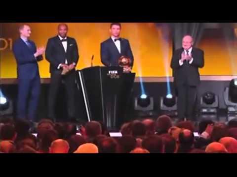 Cristiano Ronaldo grito gay premio balon de oro 2014