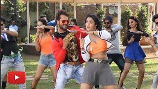 Bhojpuri Movie 'Aatankwadi' New Song On Location | Khesari Lal, Shubhi Sharma