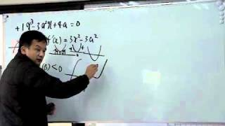 FCS数学教室/微積【異なる実数解を3つ】
