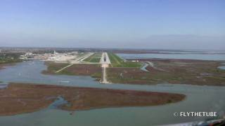 Approach to RWY04R Venezia (Venice), Marco Polo (Tessera) Airport in Italy