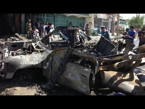 Aftermath of fatal suicide bomb in Kabul, Afghanistan