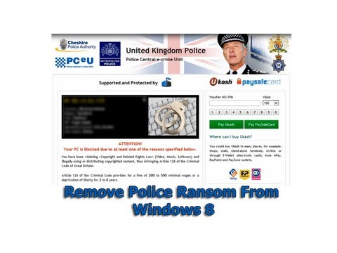 Remove Police Ransom From Windows 8