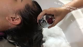 Kỹ thuật gội đầu.cty đào tạo nghề tóc NGỌC THUÝ 0936337881