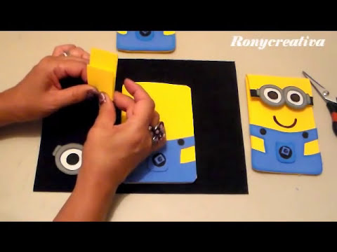 MINIONS- ESTUCHE DE FOMI /HOW TO MAKE FOAMI MINIONS DIY