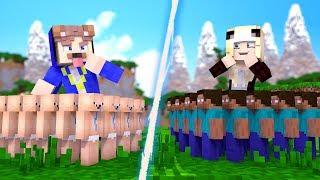 NOOB ARMEE VS. HEROBRINE ARMEE!
