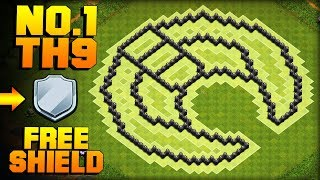 MOST EPIC TH9 FARMING BASE + PROOF! | Moon | CoC Town Hall 9 FREE SHIELD Base | Clash of Clans