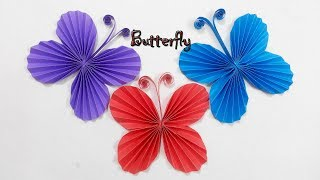 Easy Paper Butterfly Origami - Cute & Easy Butterfly, DIY Origami for Beginners || Craft Ideas #121.