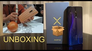 Realme X Unboxing and First Impression, popup selfie camera, Onion / Garlic inspired color options