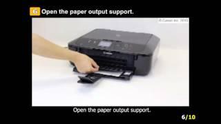 PIXMA MG5722: Prepare the printer for print head alignment