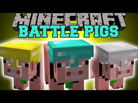 Minecraft: BATTLE PIGS (CREATE AN ARMY OF SUPER PIG PETS!) Mod Showcase