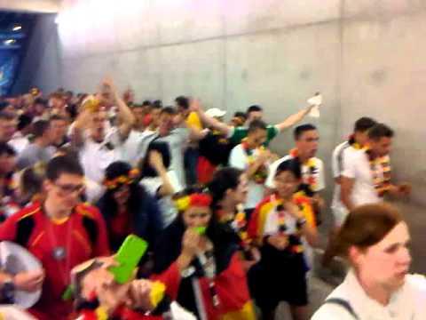 17.06.2012 Public Viewing Germany vs. Denmark parade exit Commerzbank Arena