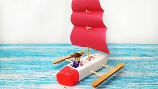 How to Make Pirates Ship from Bottle | Cara Membuat Kapal Bajak Laut dari Botol Bekas