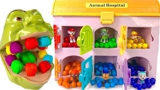 Best Learning Colors for Children  - Paw Patrol Hospital Shrek Eats Rainbow Gumballs Teeth Change