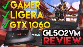 LA MEJOR LAPTOP GAMER 2017!! LIGERA Y POTENTE (i7 GTX 1060) | Asus Strix GL502VM Review Español
