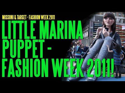 Animatronic Puppet Little Marina For Missoni & Target Fashion Week 2011