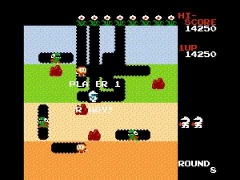 Dig Dug - lost all the lives in one level - User video