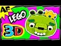 3D KING PIG - Lego Angry Birds Animated Review with Building Instructions