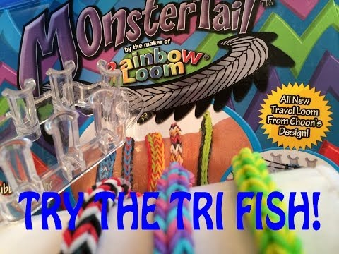 NEW Rainbow Loom Monster Tail Review and Tri Fish Tail Bracelet