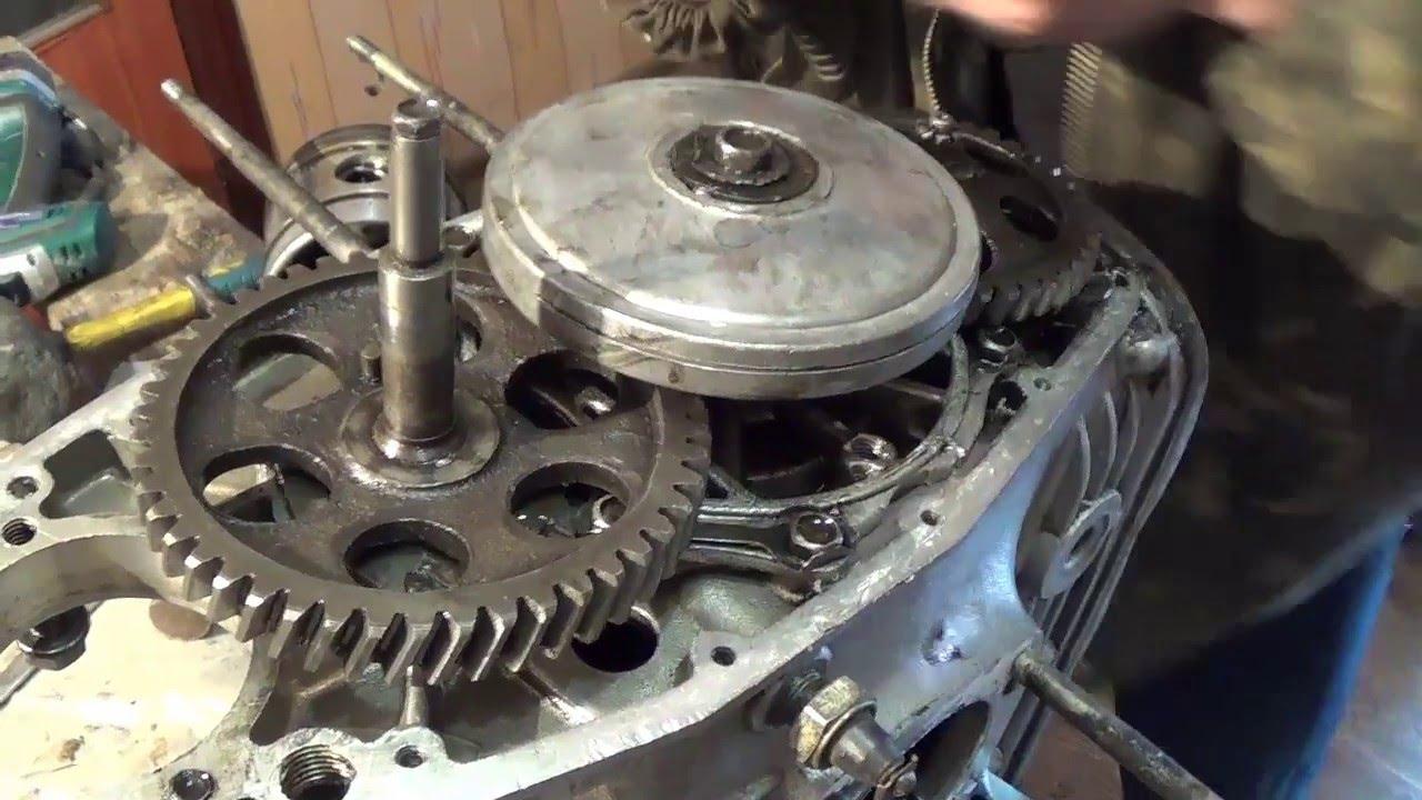 Частичный ремонт двигателя мотоцикла Днепр мт: Часть 2 (No comments)) motorcycle Dnepr MT - YouTube