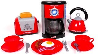 Toaster Kettle and Coffee Machine for Children | Yippee Toys Video