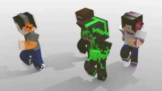Minecraft animation: LMFAO (dance animation test)