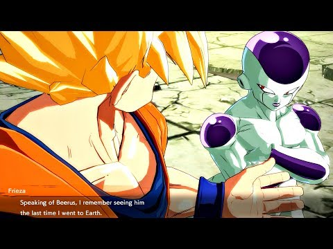 Dragon Ball FighterZ - Frieza Asks Goku How He Knows Beerus