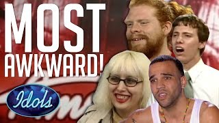 CRINGE! MOST AWKWARD & WORST Auditions On American Idol