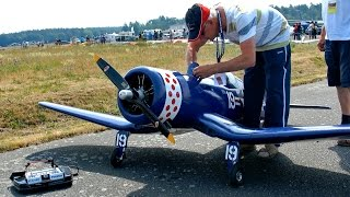 F4U CORSAIR GIANT SCALE RC MODEL AIRPLANE FLIGHT / Meeting Gatow 2015 *1080p50fpsHD*