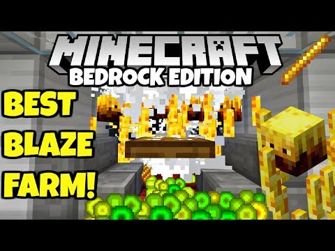 Minecraft Simple Fast BLAZE FARM Tutorial! Bedrock Edition PE MCPE  Xbox Windows 10