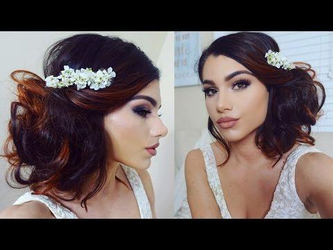 Full age WEDDING Makeup Tutorial! + Romantic Bridal Bun Updo!