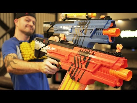 Nerf Rival KHAOS MXVI-4000   NERF Gun Review. Unboxing & Firing!