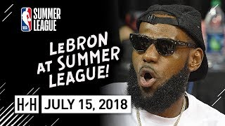 LeBron James Full Coverage Highlights | Lakers vs Pistons | July 15, 2018 NBA Summer League