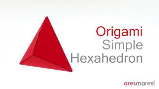 Origami hexahedron (easy modular)