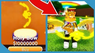 Buying the Max Power Bow in Roblox Archer Simulator