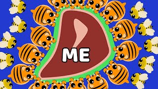 How to become a GIANT MEATBALL in Mope.io