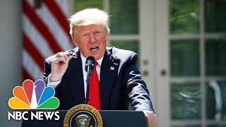 President Donald Trump Holds Joint Press Conference With Norwegian Leader | NBC News