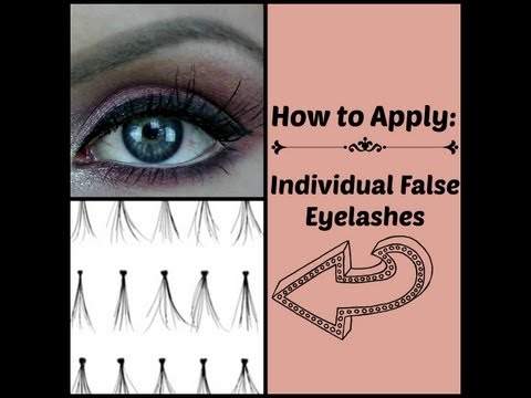 How to Apply Individual False Eyelashes (easy and quick) Makeup Tutorial