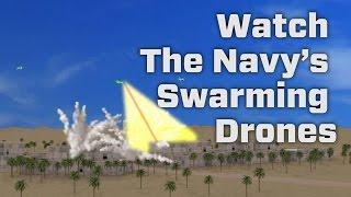 Watch The Navy's Swarming Drones
