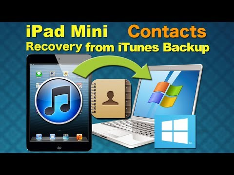 iPad Mini backup & recover, Recover Deleted Contacts or all other data from iPad Mini on Windows