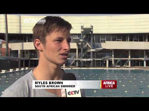 South African swimmer Myles Brown making waves