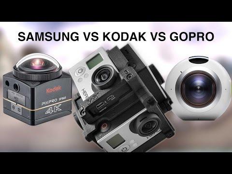 360 camera showdown - Samsung vs Kodak vs GoPro