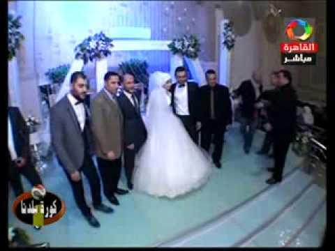 كورة بلدنا تحتفل بزفاف نجل محمود خالد مراسل البرنامج بدكرنس