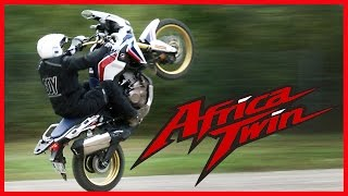 Essai Honda AFRICA TWIN - Voyage, cross et wheeling (english subtitles)