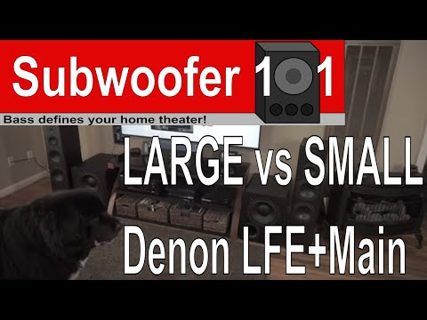 Large VS Small Speaker Settings (LFE + Main, Double Bass, etc...)
