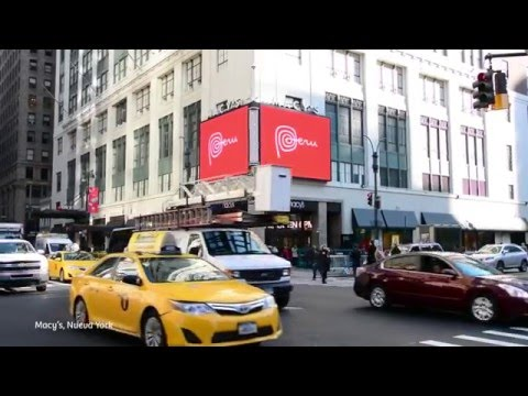 """Peru, land of hidden treasures"" in Times Square, New York"