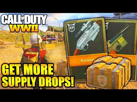 HOW TO GET MORE SUPPLY DROPS FAST and EASY WORLD WAR 2 GET MORE SUPPLY DROPS AND ARMORY CREDITS!